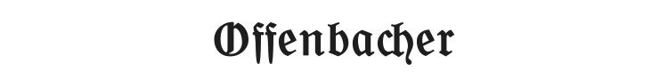 Offenbacher Schwabacher Font Preview