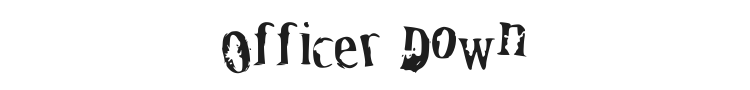 Officer Down Font Preview
