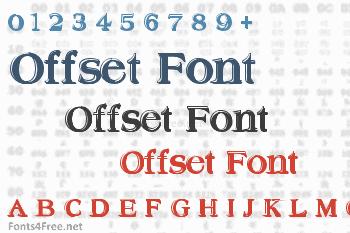 Offset Font