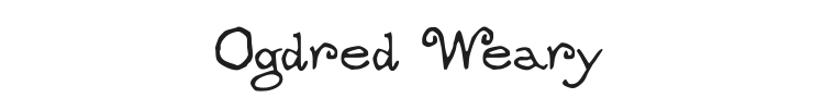 Ogdred Weary Font Preview