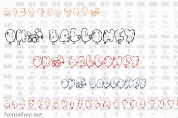Oh, Balloney Font