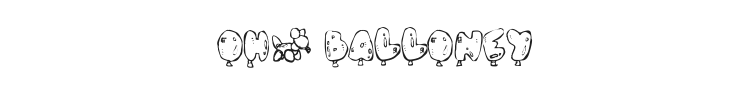Oh, Balloney Font Preview