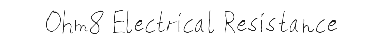 Ohm8 Electrical Resistance Font