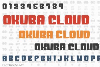 Okuba Cloud Font
