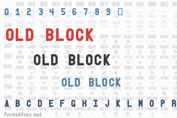 Old Block Font