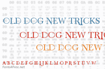 Old Dog, New Tricks Caps Font