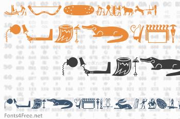 Old Egypt Glyphs Font