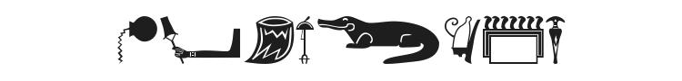 Old Egypt Glyphs