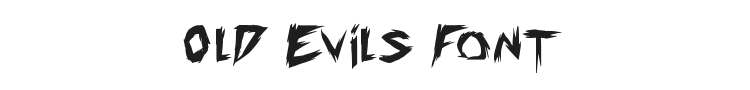 Old Evils Font Preview
