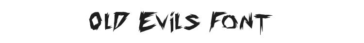 Old Evils Font