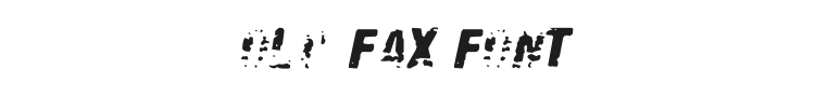 Old Fax Font Preview