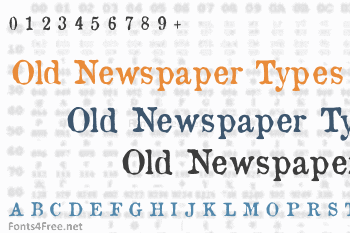 Old Newspaper Types Font