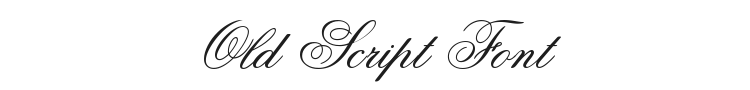 Old Script Font Preview