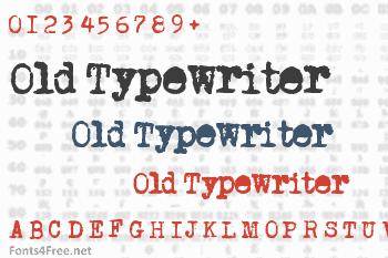 Old Typewriter Font