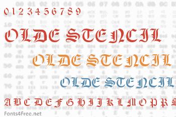 Olde Stencil Font