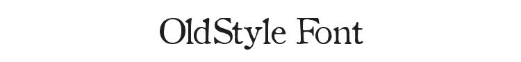 OldStyle Font