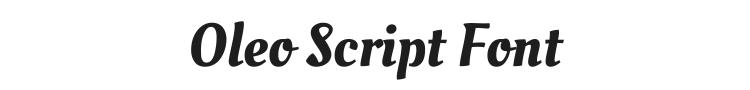 Oleo Script Font Preview