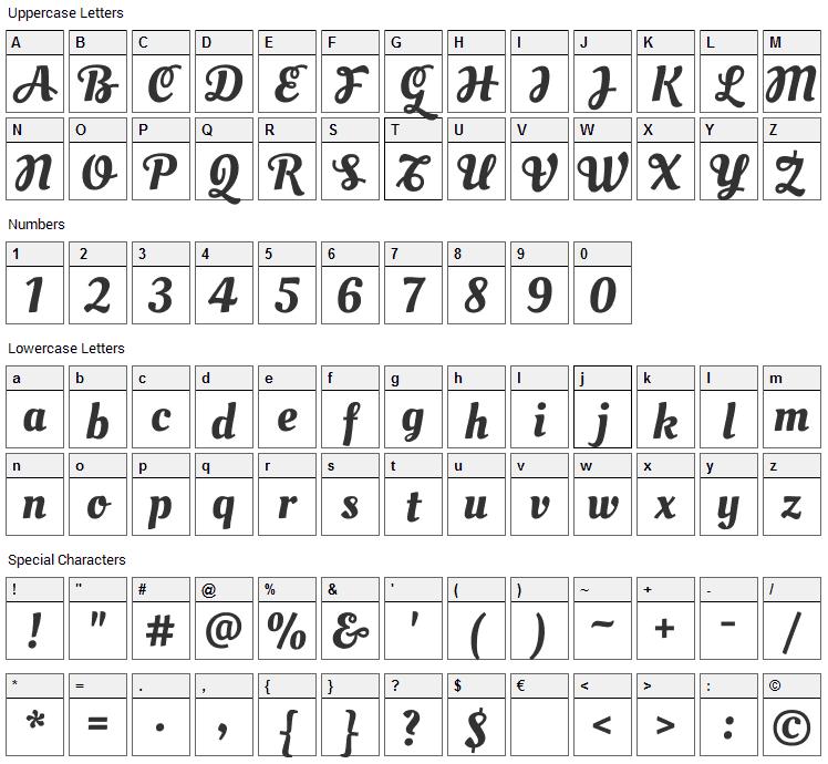Oleo Script Swash Caps Font Character Map