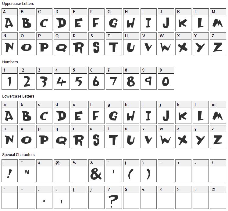 Olli Compolli Font Character Map