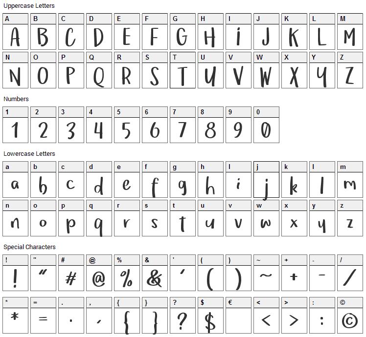 Om Telolet Om Font Character Map