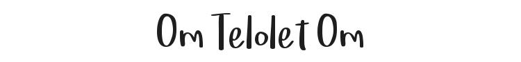 Om Telolet Om Font Preview