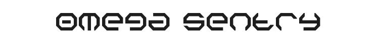 Omega Sentry Font Preview