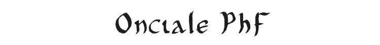 Onciale PhF Font Preview