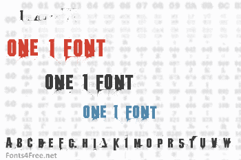 One 1 Font