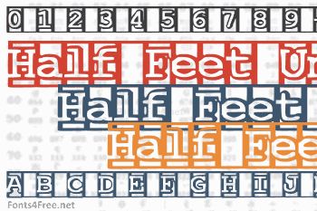 One and a Half Feet Under Font