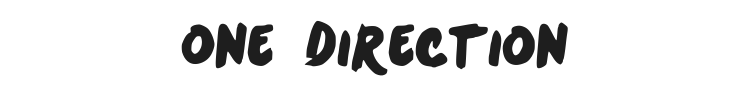 One Direction Font Preview