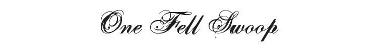 One Fell Swoop Font Preview