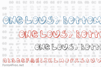 One Lousy Bottom Font