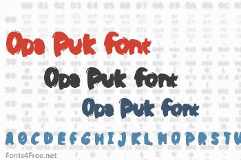 Opa Puk Font