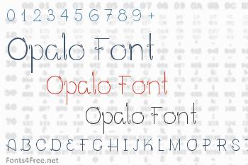 Opalo Font