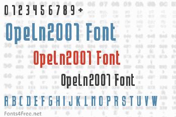Opeln2001 Font