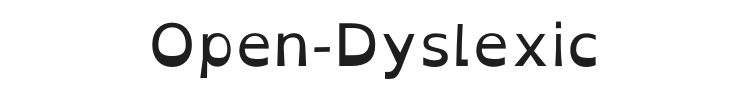 Open-Dyslexic Font Preview