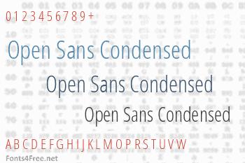 Open Sans Condensed Font