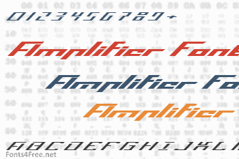 Operational Amplifier Font