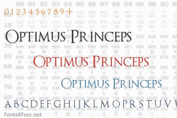 Optimus Princeps Font
