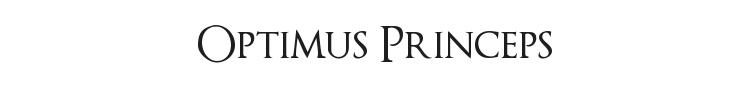 Optimus Princeps Font Preview