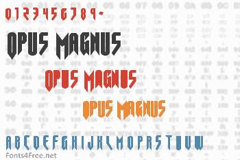 Opus Magnus Font