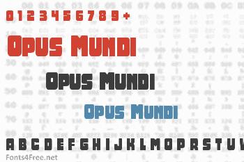 Opus Mundi Font