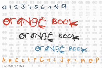 Orange Book Font