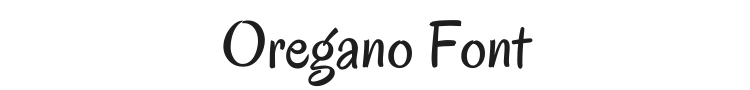 Oregano Font Preview