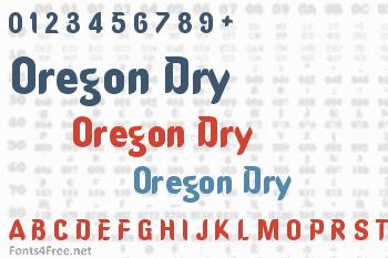 Oregon Dry Font