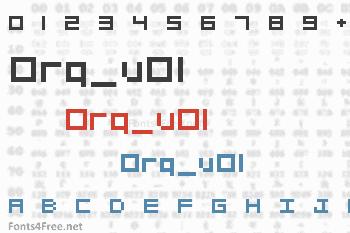 Org_v01 Font