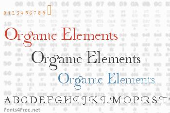 Organic Elements Font