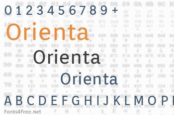 Orienta Font