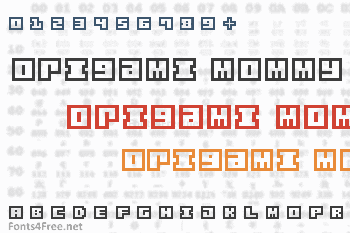 Origami Mommy Font