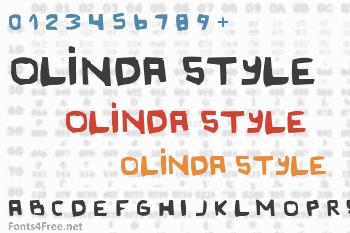Original Olinda Style Font
